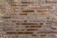 De oude bakstenen muur van Byzantium stock fotografie