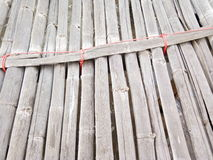 De Oude bamboebrug Stock Fotografie