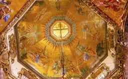 De Oude Basiliek Guadalupe Mexico City Mexico van koepelmozaïeken stock afbeelding