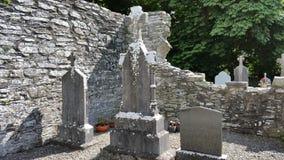 De oude begraafplaats Stock Afbeelding