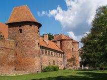 De oude beroemde kathedraal in Fromborg, Polen Stock Foto's