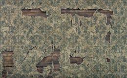De oude beschadigde uitstekende achtergrond van de behangmuur royalty-vrije stock afbeelding