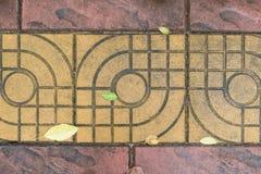 De oude betegelde textuur van de kleurenvloer Stock Fotografie