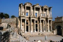 De oude bibliotheek van Celsius in Efes Stock Foto's