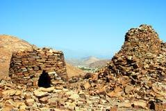 De oude Bijenkorfgraven in Jabal Westelijke Misht stock afbeeldingen
