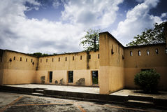 De oude Binnenplaats van de Gevangenis Royalty-vrije Stock Foto's