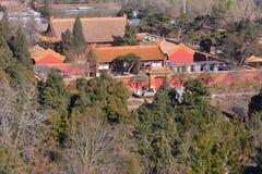 De oude binnenplaats van Peking royalty-vrije stock fotografie