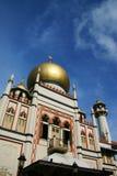 De oude blauwe Hemel van de Moskee van de Sultan Stock Foto