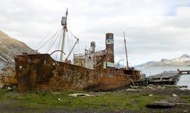 De oude Boot van de Walvisvangst - Grytviken, Zuid-Georgië Royalty-vrije Stock Foto's
