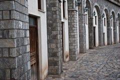 De oude bouw in Arahova stock afbeelding