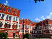 De oude bouw in barokke stijl, Kamenets Podolskiy, de Oekraïne royalty-vrije stock afbeelding