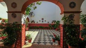 De oude Bouw binnenlands Spanje Espana Andalusia van Cordovacordoba royalty-vrije stock afbeelding