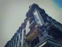 De oude bouw in centrum van Belgrado Royalty-vrije Stock Fotografie