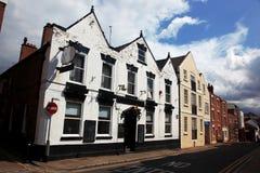 De oude bouw in Chester stock afbeeldingen