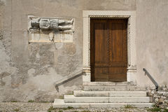 De oude Bouw in Feltre, Veneto, Italië Royalty-vrije Stock Afbeeldingen
