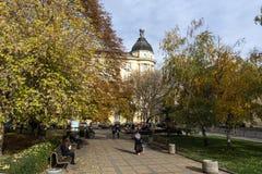 De oude Bouw in het centrum van stad van Sofia, Bulgarije Stock Foto