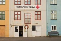 De oude bouw in het kapitaal van de Faeröer Stock Afbeelding