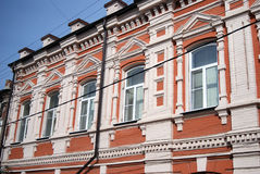 De oude bouw in historisch stadscentrum van Samara, Rusland Stock Afbeeldingen