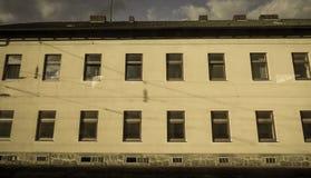 De oude bouw in Linz, Oostenrijk stock afbeeldingen