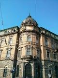 De oude bouw in Lviv de Oekraïne Stock Afbeelding