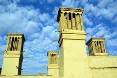 De oude bouw met torens Royalty-vrije Stock Foto's