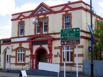 De oude bouw in Nieuw Zeeland stock foto's