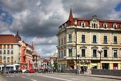 De oude bouw in Oradea roemenië Stock Foto