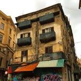 De oude bouw in Palermo stock fotografie