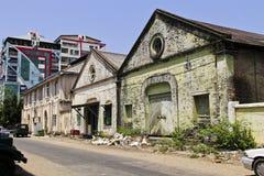 De oude bouw Rangon Royalty-vrije Stock Afbeeldingen