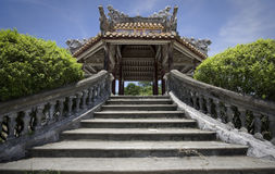 De oude bouw in Tint in Vietnam royalty-vrije stock foto's
