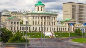 De oude bouw van de Russische bibliotheek van de Staat stock video