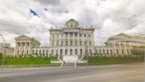 De oude bouw van de Russische bibliotheek van de Staat stock videobeelden
