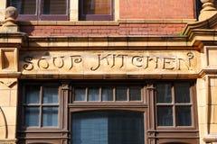 De oude bouw van de soepkeuken, Londen het UK Royalty-vrije Stock Foto's