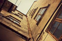 De oude Bouw verhaal raadpleging retro ukraine Architectuur stock foto's
