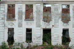 De oude bouw zonder Vensters en deuren Royalty-vrije Stock Foto's