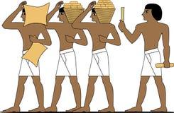 De oude bouwers van Egypte stock illustratie