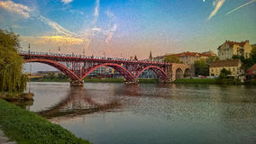 De oude brug Royalty-vrije Stock Fotografie
