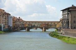 De oude brug, Florence Stock Foto's