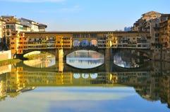 De oude brug in Florence, Italië stock foto