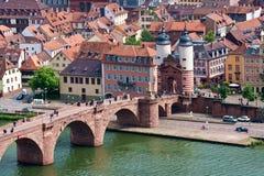 De oude Brug Heidelberg Duitsland royalty-vrije stock fotografie