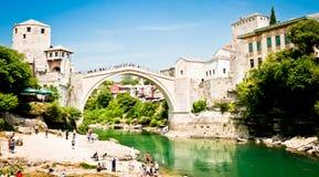 De Oude Brug in Mostar, Bosnië-Herzegovina Stock Afbeelding