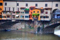 De oude brug van Florence, Italië Stock Foto's