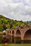 De Oude Brug van Heidelberg Stock Afbeelding