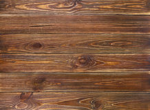 De oude bruine achtergrond van grunge houten planken Stock Foto's