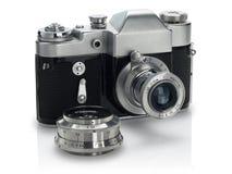 De oude camera Stock Afbeeldingen