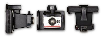 De oude camera van de polaroidfoto Stock Afbeeldingen