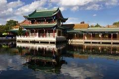 De oude Chinese bouw stock afbeelding