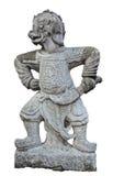 De oude Chinese strijdersstandbeelden. Royalty-vrije Stock Foto's