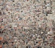 De oude cobble textuur van de steenstraat stock foto