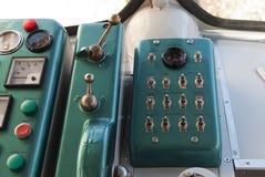 De oude Cockpit van de Trein Stock Fotografie